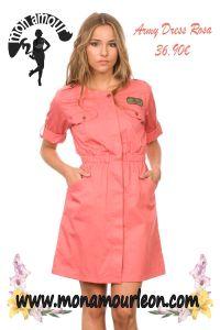 ARMY DRESS rosa