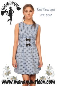 BOW DRESS azul
