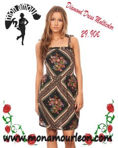 DIAMOND DRESS multicolor