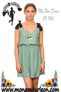 MY BOW DRESS verde