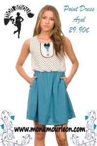 POINT DRESS azul