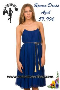 ROMEO DRESS azul