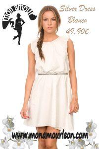 SILVER DRESS blanco