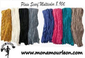 PLAIN SCARF multicolor