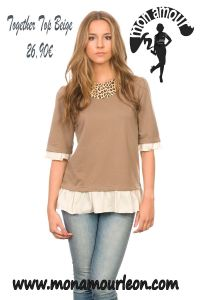 TOGETHER TOP beige