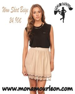 WOW SKIRT beige