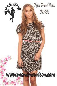 Tiger Dress negro