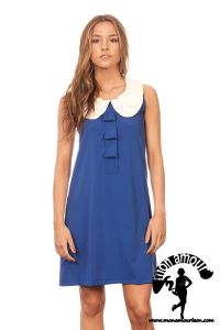 Pleated Dress azul